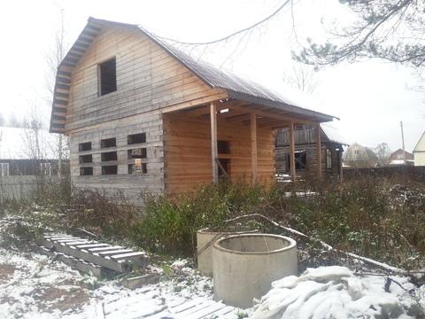 Земельный участок 6 соток с домом( не дострой) вблизи г. Клина в СНТ