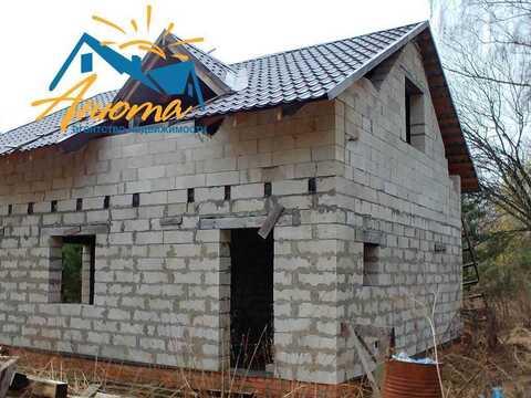 Продается большой недостроенный дом с баней на прилесном участке в тих