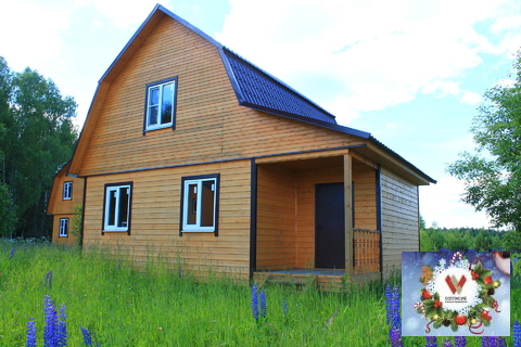 Продам дом из бруса 70 кв.м на 8.7 сотках в деревне.жилая улица
