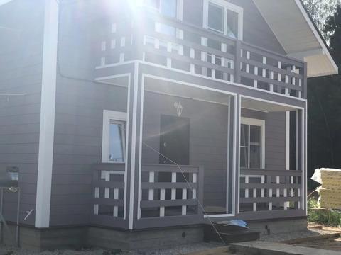 Готовый дом из бруса с участком у леса под ключ