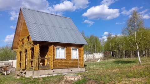Продается участок 15 соток с новой баней в д.Алексеевка, Чеховский р-он