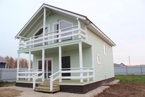 Теплый дом из бруса на прилесном участке в Жуковском Верховье.