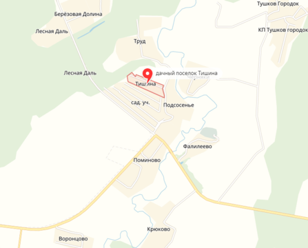 Купить дачный участок 12 соток в поселке Тишина