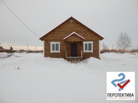 Одноэтажный дом из бруса, общей площадью 72 кв.м, на земельном участк