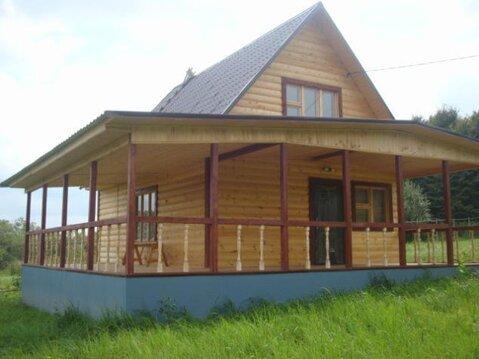 Дом с баней с огромной верандой