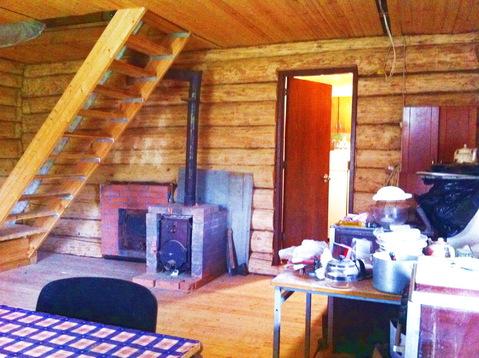 Бревенчатый дом 80 кв.м. 10 соток у леса. Газ по границе. 50 км. МКАД.