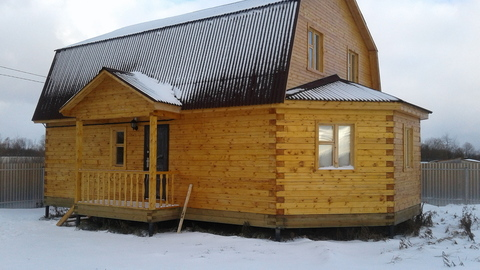 Дом, Киевское ш, 80 км от МКАД, Балабаново. Готовый к проживанию 2-х .