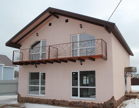 Дом из пеноблока в д. Кабицино 150 кв. м. на 8 сотках