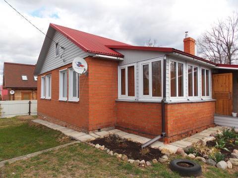 Кирпичный дом с г/о на участке 10 соток на Волге в г. Плёс