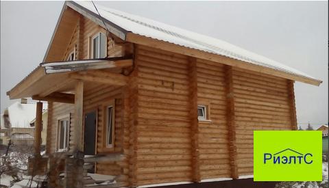 Новый дом из оцилиндрованного бревна