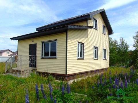 Новый дом с коммуникациями в ДНП Лесное, дер.Курбатово, 100 км от МКАД