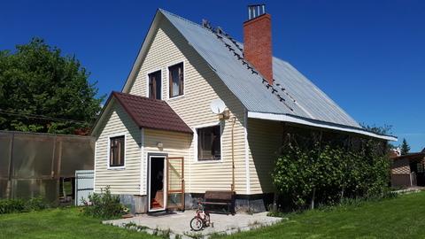 Дом 190кв.м. с коммуникациями + гостевой дом с беседкой, в п.Заокском