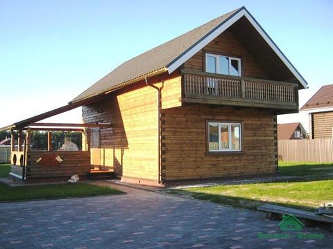Новый брусовой дом в д.Дубки - 69 км Щелковское шоссе