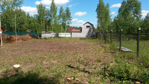 Участок 10 соток в дачном посёлке по Горьковскому ш. 55 км от мкада.