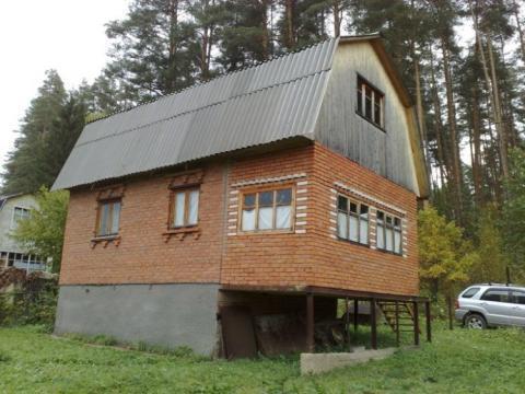 Готовая кирпичная дача в окружении соснового леса