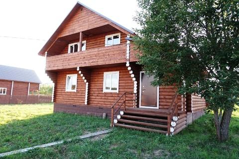 Новый дом из оцелиндрованного бревна 170 кв.м, все коммуникации, газ