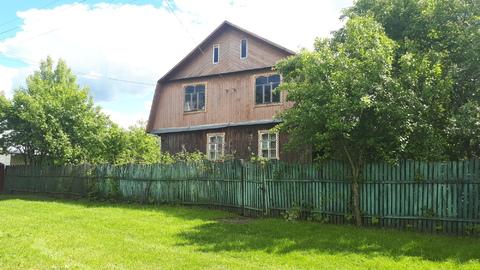 Теплый бревенчатый дом с печкой на участке 35 соток в д.Ушаковка