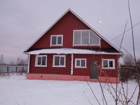 Продается новый бревенчатый дом 160 кв.м с коммуникациями в г Струнино