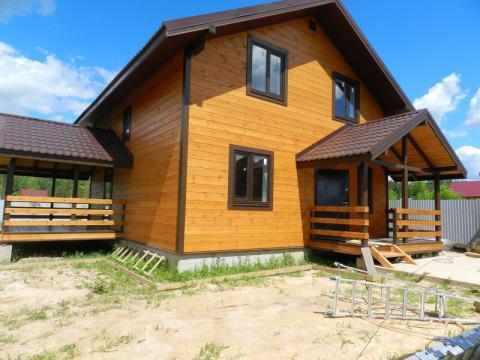 Каверино . Продажа домов у озера из бруса в Боровском р-не 15сот