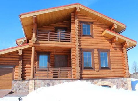 Продается новый бревенчатый дом 300 кв.м на участке 26 с. в д. Орлово