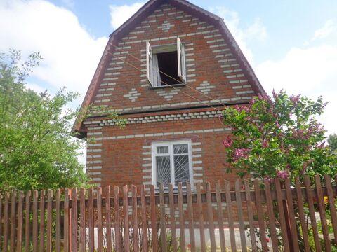 Кирпичный дом пл. 45 м с земельным участком 6,2 сотки, в СНТ вблизи .