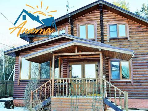 Продается добротный бревенчатый дом с бревенчатой баней в деревне в 10