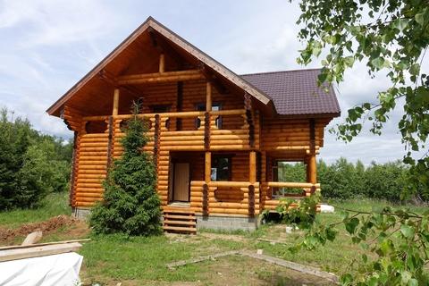 Новый коттедж 230 кв.м из бревна в охраняемом поселке в 85 км от МКАД