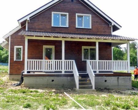 Дом из бруса под ключ цены Киевское Калужское шоссе 10 сот у леса
