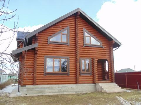 Чехов г, улица Солнечная дом 190 кв м.оцилиндрованного бревна.