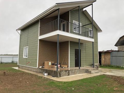 Новый дом из газоблоков, 120 кв, Д. Скурыгино, г. Чехов