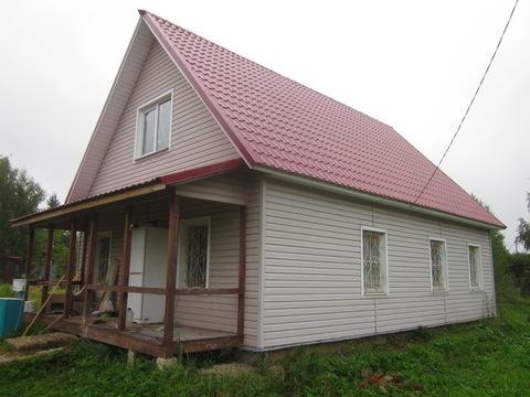 Капитальный блочный дом с баней на участке 8 соток