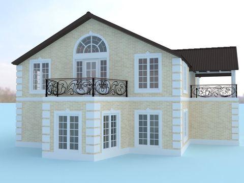 Дом 374 кв.м, д.Сокули, коттеджнй поселок