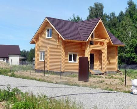 Готовый дом под ключ цена из бревна Киевское Калужское шоссе 10соток
