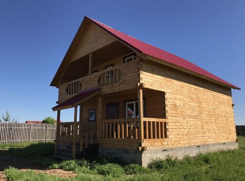 Брусовый дом 140 кв м в коттеджном поселке