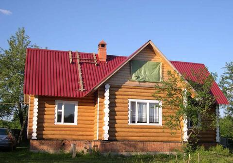Дом рубленный 150м2, баня 6*6, участок 63 сотки в д. Бородухино