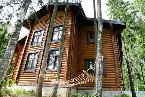Загородный дом из бревна в лесу, Киевское ш, 28 км от МКАД
