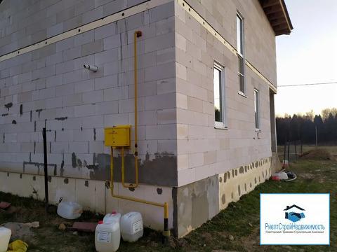 Новый дом из блоков в деревне со всеми коммуникациями, ИЖС, газ