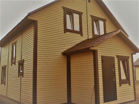 Солнечный бруовой дом в Жуковском Верховье, крайний к лесу.
