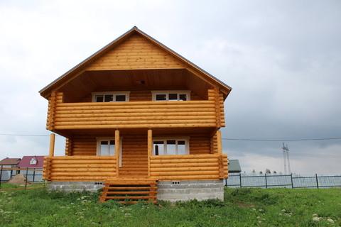 Площево. Новый дом из оцилиндрованного бревна. Хорошая инфраструктура.