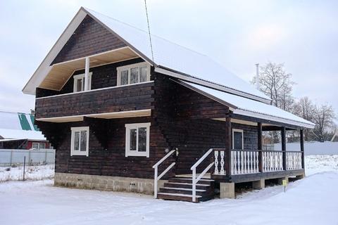 Новый дом из бруса 160 кв.м, у воды, в жилой деревне в 98 км от МКАД