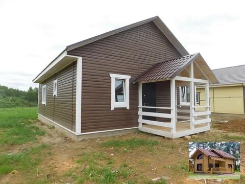 Одноэтажный дом на монолитной плите с подогревом полов на 8 сотках